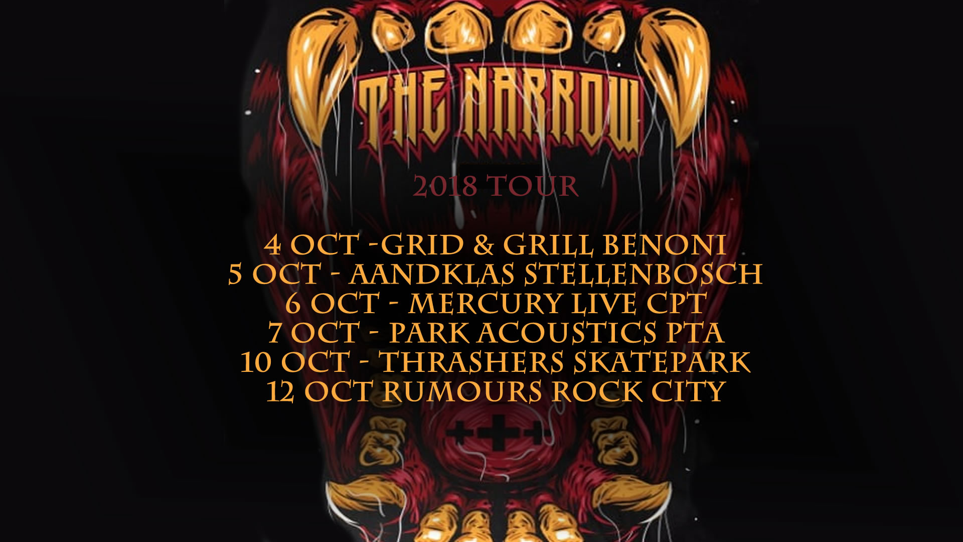 the narrow tour 2018